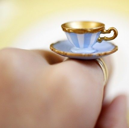 cute, jewelry, ring, teacup