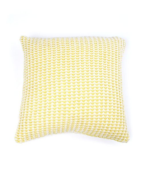 Textured Weave Cushion-Ochre Yellow/Natural | Krinkle - Homewares & Gifts
