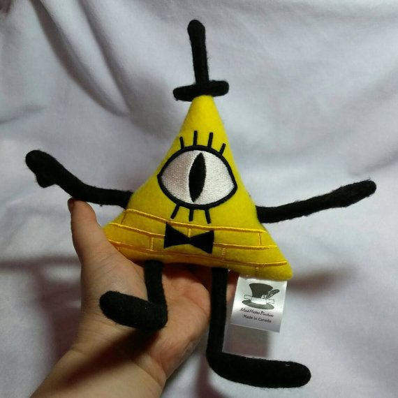 Check out this item in my Etsy shop https://www.etsy.com/ca/listing/386257908/gravity-falls-inspired-bill-cipher-plush