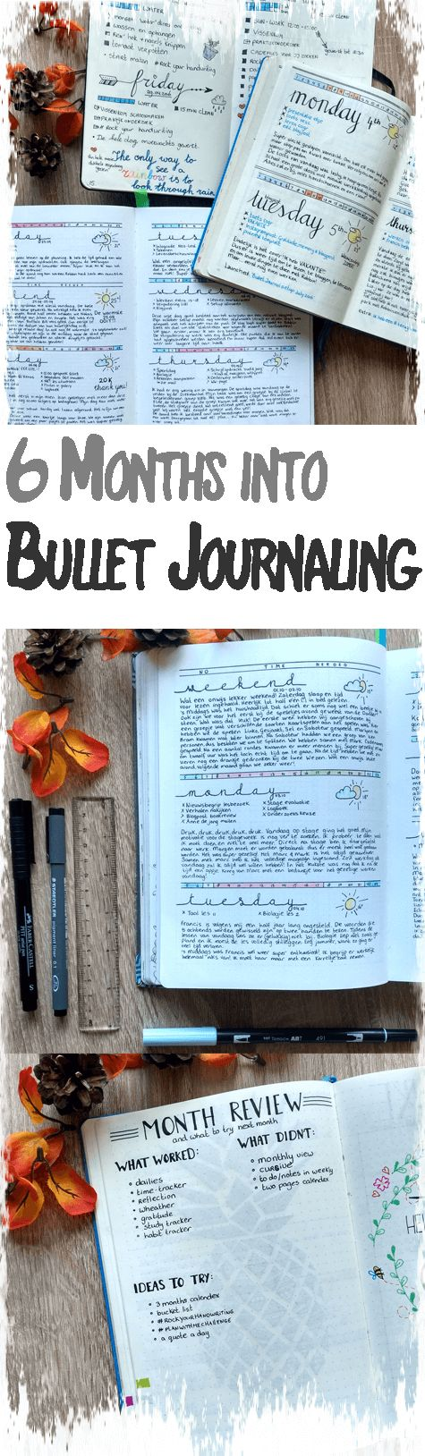Exactly six months ago I bought a blank Moleskine notebook. I had found some inspiration online about a Bullet Journal and wanted to give it a try. Now, six months, three notebooks and a bunch of pens later, I can tell you that this experience changed my life!