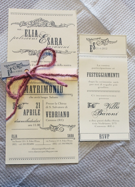 Perledicotone blog: wedding Beautiful invites.