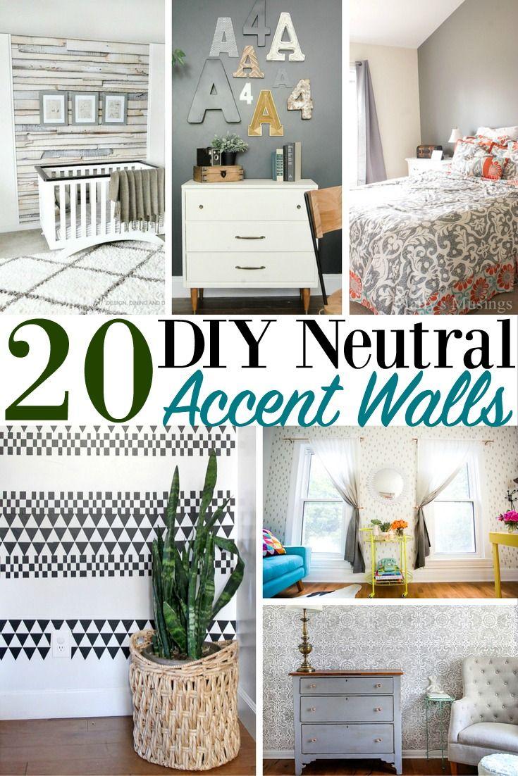 20 DIY Neutral Accent Walls