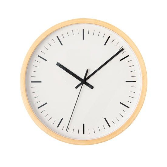 Quick kitchen update... Scandinavian-style beech clock by Muji http://www.housetohome.co.uk/product-idea/picture/scandinavian-kitchens-10-of-the-best-accessories/8