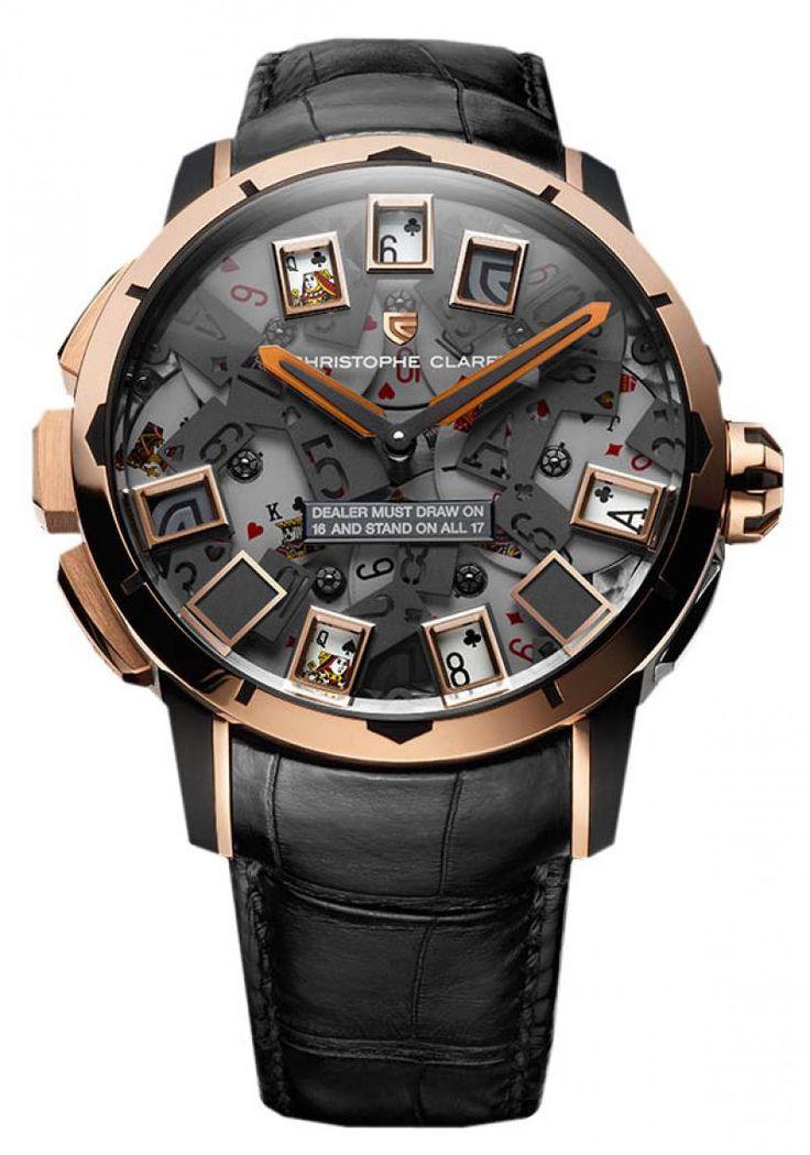 Christophe Claret MTR.BLJ08.030-051 21 BlackJack - швейцарские мужские часы наручные, золотые, титановые, черные