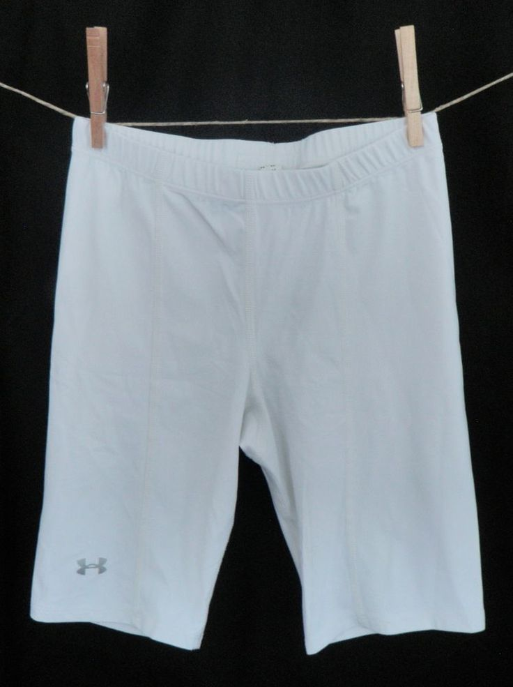 Under Armour Womens Small White Long Shorts Compression