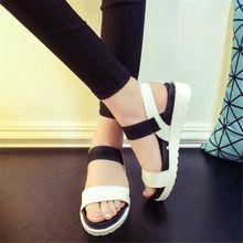 Chaussures d'été femme Vente Chaude sandales femmes 2016 peep-toe Chaussures plates sandales Romaines Femmes sandales sandalias mujer sandalias X278(China (Mainland))