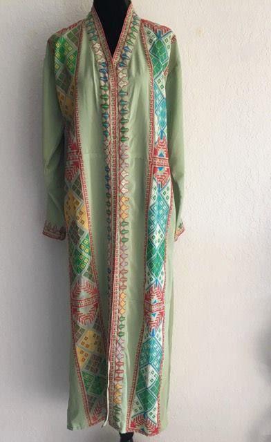 Embroidered bisht abaya dubai jalabia khaleeji kaftan maxi