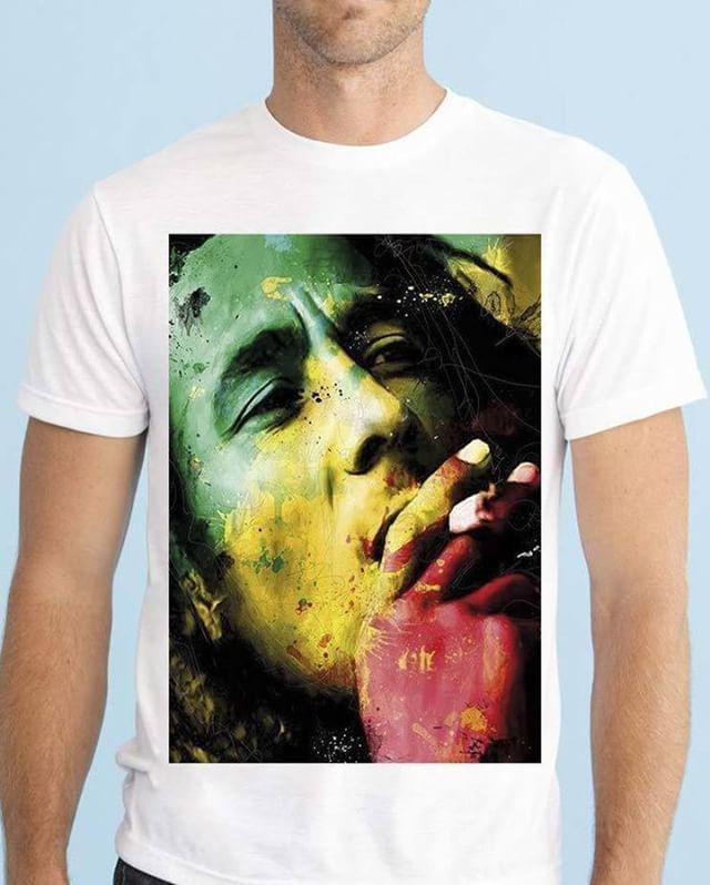 https://www.navdari.com/products-m00471-BOBMARLEYREDYELLOWGREENDESIGNTSHIRT.html #bobmarley #bob #marley #music #green #yellow #red #cigarette #smoking #TSHIRT #CLOTHING #Men #NAVDARI