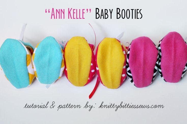 """""""Ann Kelle"""" Baby Booties {Visual Tutorial} / FREE Full PDF ..."""