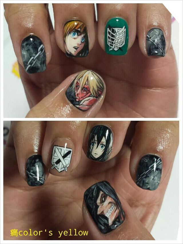 Shingeki no Kyojin Nail Art by color's ita nail salon