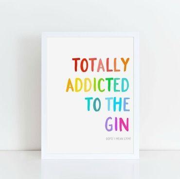 Gin or Gym Print