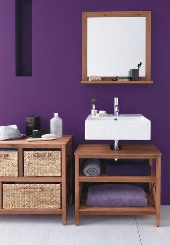 17 meilleures id es propos de salles de bains violettes - Meuble salle de bain violet ...