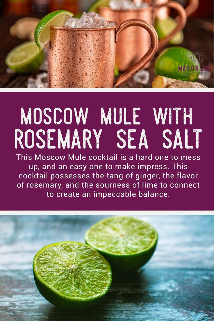 Einfaches Moskau-Maultier mit Rosemary Sea Salt Recipe – Happy Hour