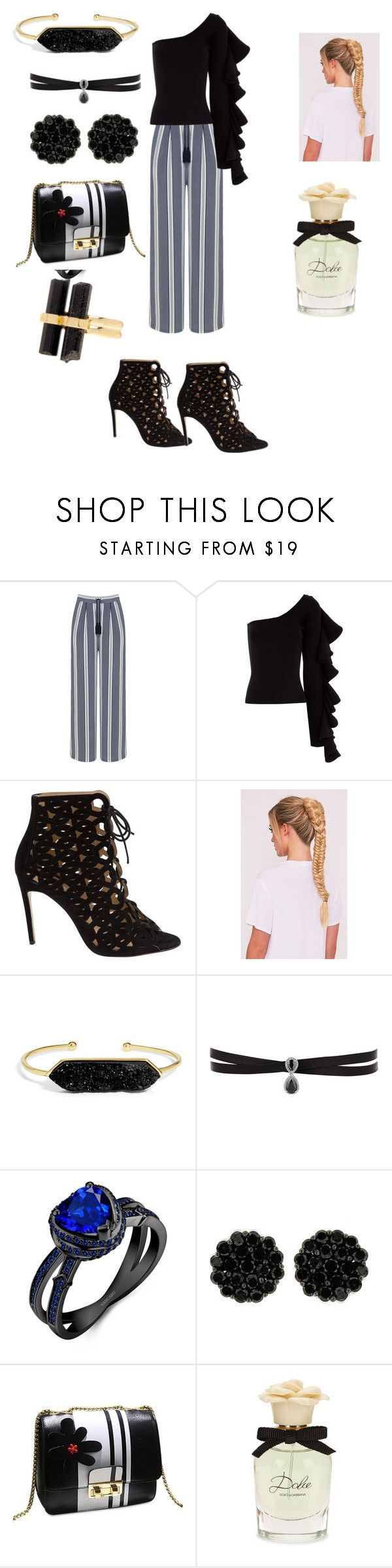 """Untitled #214"" by susanaxalex ❤ liked on Polyvore featuring Manon Baptiste, Beaufille, Bionda Castana, BaubleBar, Fallon, Dolce&Gabbana and House of Harlow 1960"