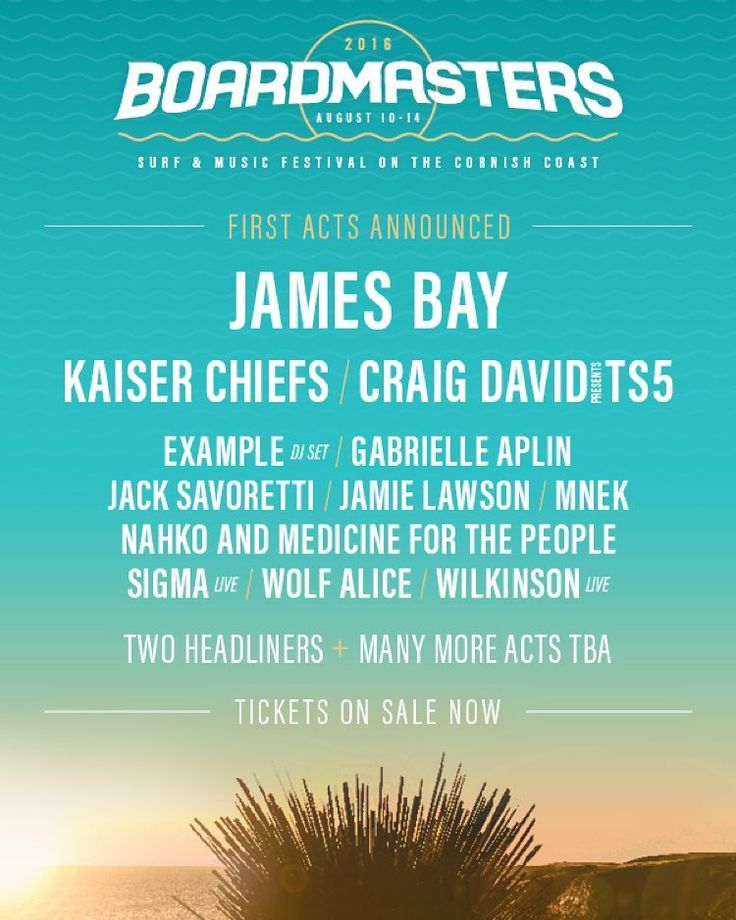 Headlining @boardmasters festival!!  by jamesbaymusic
