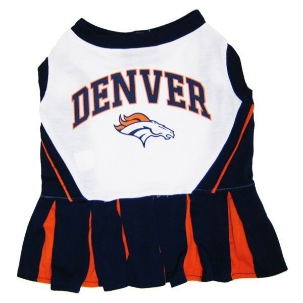 Denver Broncos NFL Pets First Cheerleader Dog Dress Sizes XS-M #PetsFirst
