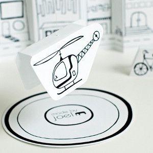 how to make easy diy printable helikopter