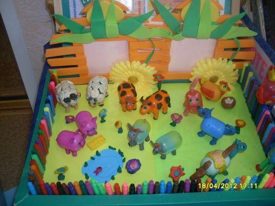 Продуктивная деятельность по теме «Животные» / поделки из бросового материала / детские рисунки / детские поделки