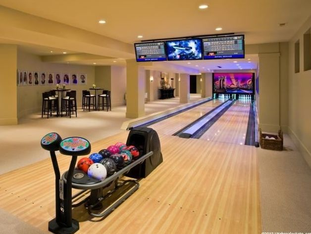 17 best images about home bowling alley on pinterest for House plans with bowling alley