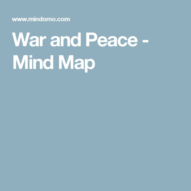 War and Peace - Mind Map