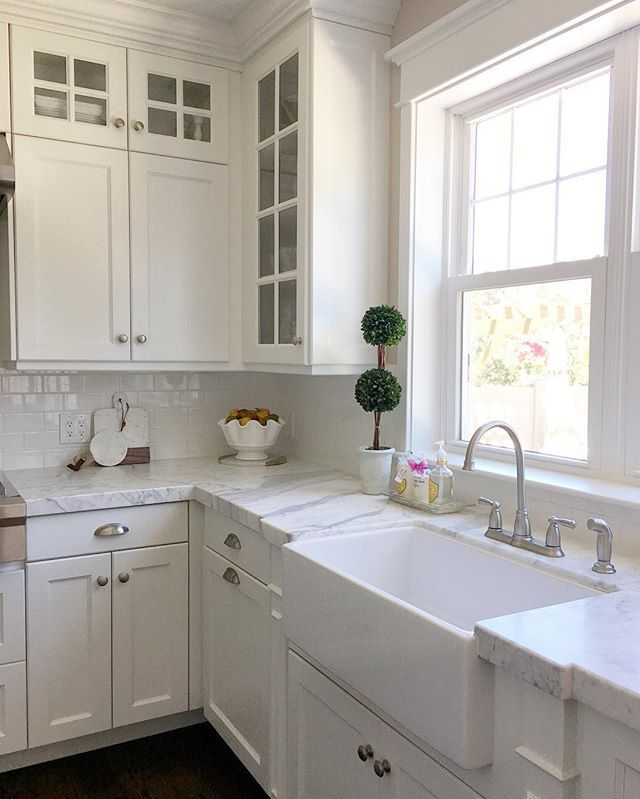 Apron sinks will always make my heart skip a beat. Can't wait to have one of my own someday. Til then I can be thankful for clients with some great taste! This kitchen will always be a fave of mine! #studio7interiordesign sharing for #inspirememonday