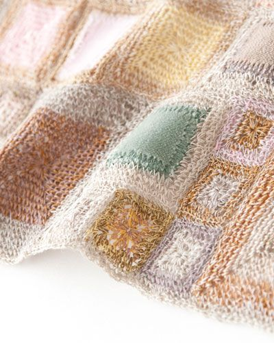 Sophie Digard crochet scarf - details