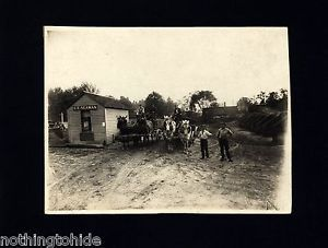 Horse-drawn Coal Wagons Approach Weighing Scales - Circa 1920 Cabinet Photo  | eBay