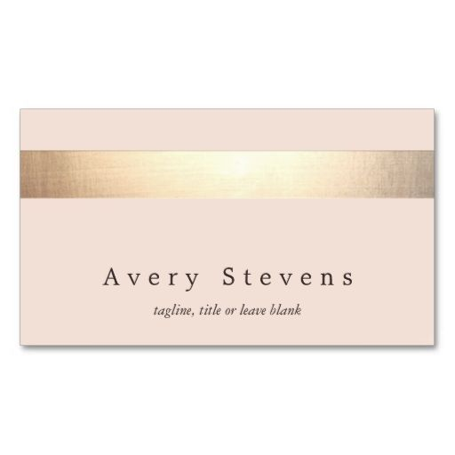 1817 best creative business card templates images on pinterest elegant gold striped no shine modern light pink business card reheart Gallery