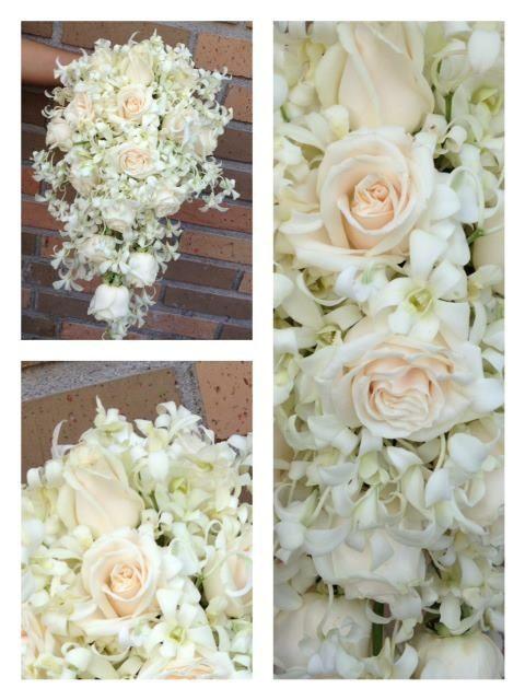 Ramo orquídeas y rosas
