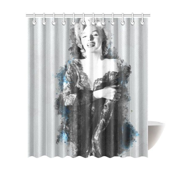 Marilyn Monroe Shower Curtain 6 Sizes To Choose From Includes