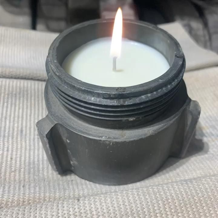Fire Soy Candle Firefighter Wife Thin Red Line