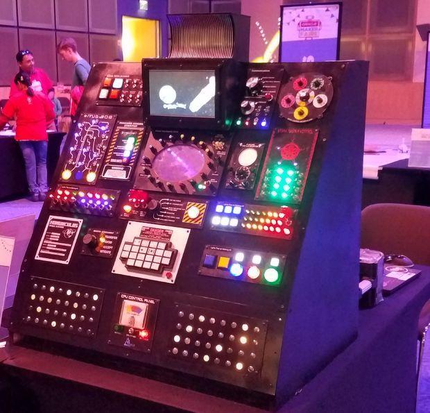 Rocket Ship Panel   steampunk   Flight simulator cockpit