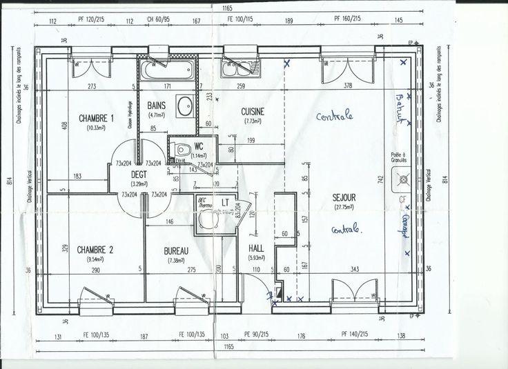 Photo le plan de la maison plan maison pinterest for Plan maison positive