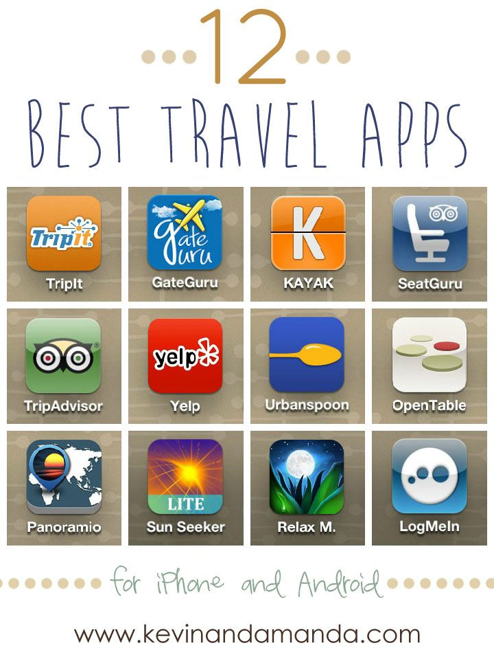 A list of the most helpful travel apps to simplify every aspect of trip-planning! Make sure you have these apps to find the best deals on flights and hotels, keep all important travel documents organized in one easy-to-access spot, discover the most popular restaurants and places to eat, and find the top must sees and dos in new cities. www.kevinandamanda.com