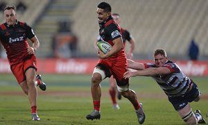 Near-record Super Rugby score as Crusaders thump Rebels