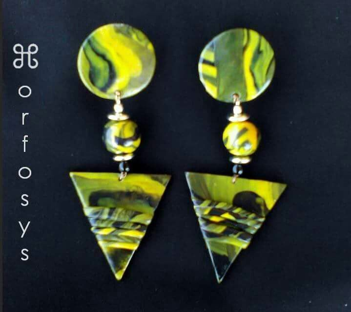Handmade earrings  Sole piece / Made in Italy