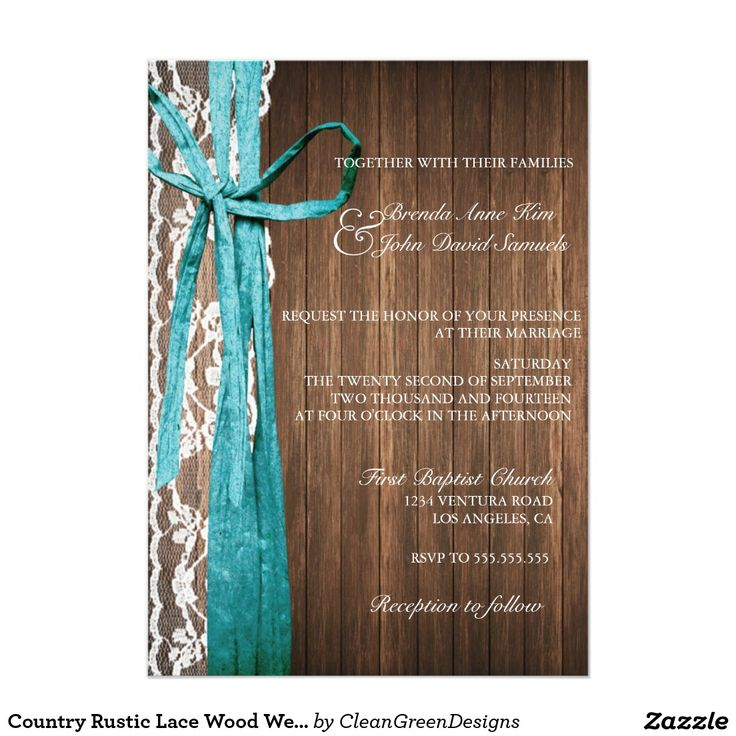 Country Rustic Lace Wood Wedding Invitation If you want custom colors or assistance in creating your design, feel free to contact me at zazzlepartydepot@gmail.com. I look forward to hearing from you!