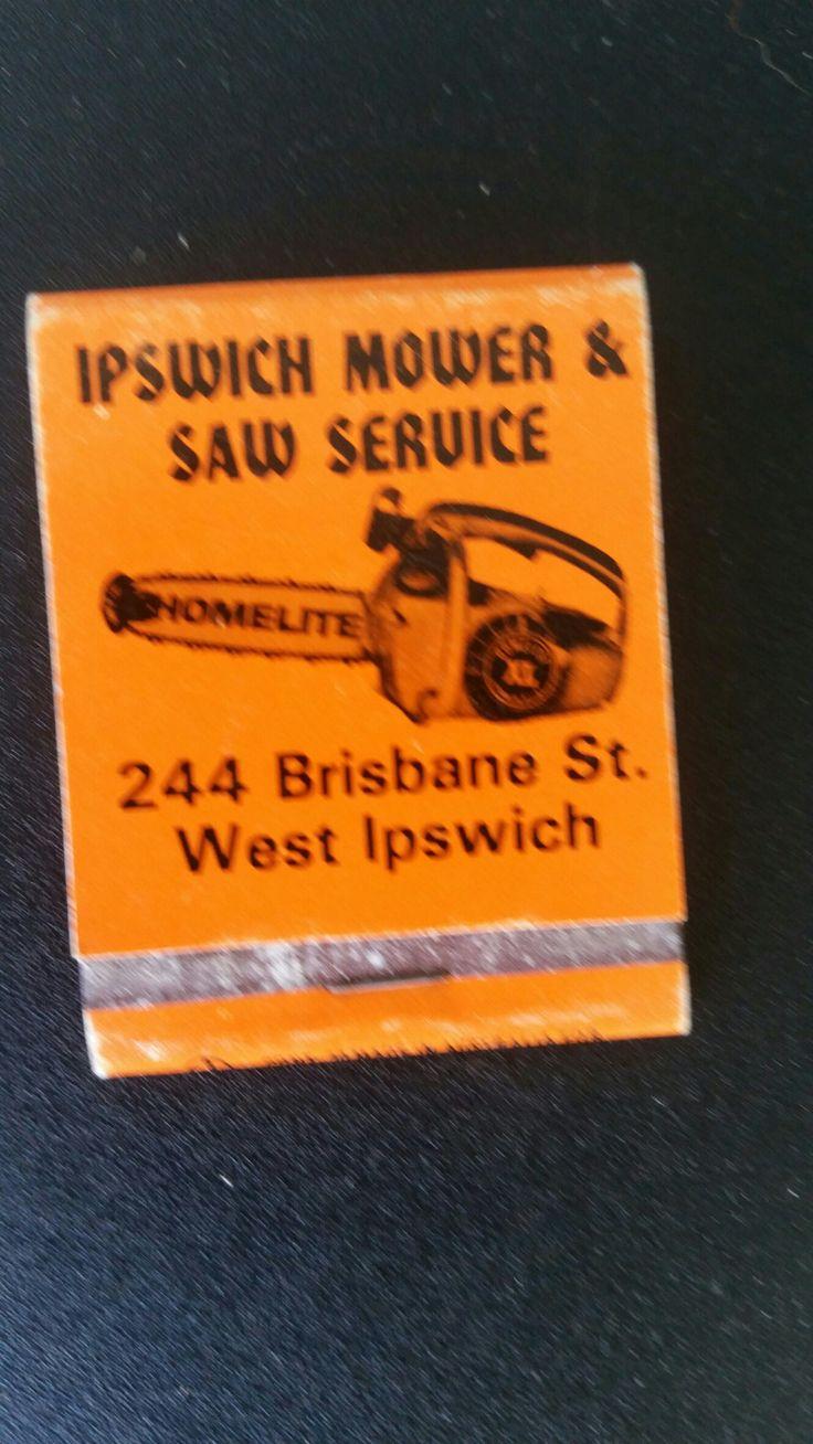 Ipswicg Mower &:Saw Service. Matchbook.
