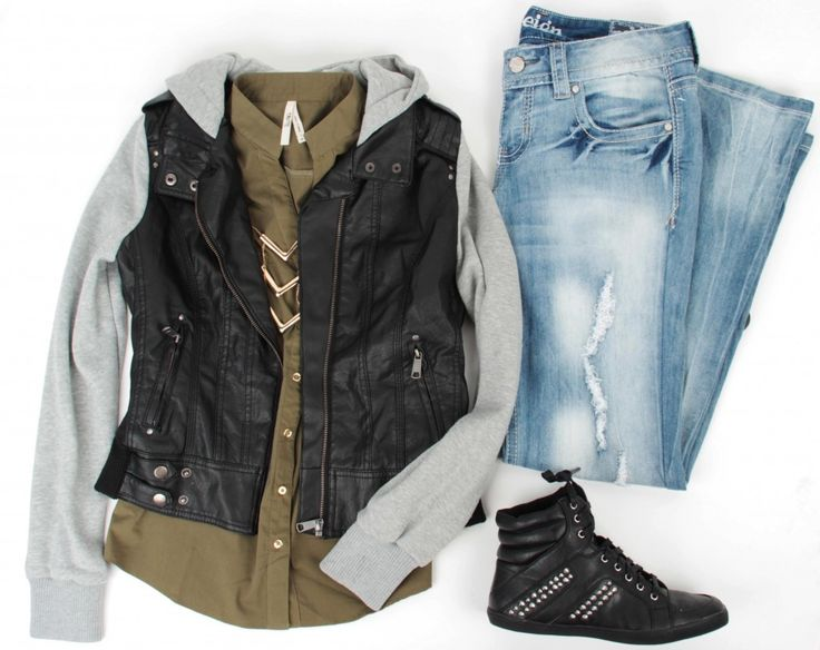 Fall: Swap shoes for combats  Spring: Jean high waist shorts and converse or combats
