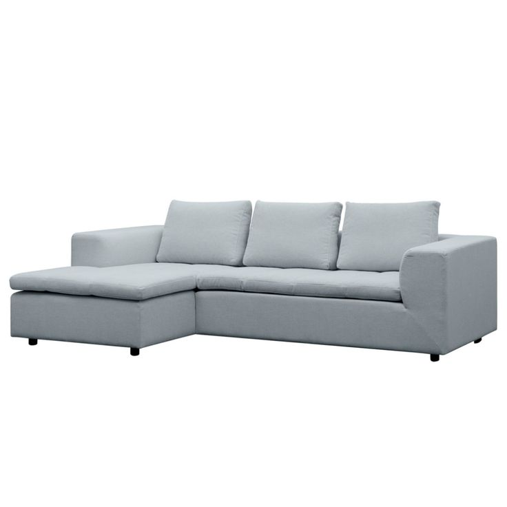 Ecksofa Brooklyn II - Webstoff - Longchair/Ottomane davorstehend links - Stoff Anda II Silber, Studio Copenhagen Jetzt bestellen unter: https://moebel.ladendirekt.de/wohnzimmer/sofas/ecksofas-eckcouches/?uid=cd3ee0d5-22d3-5c72-9d06-182d412270b1&utm_source=pinterest&utm_medium=pin&utm_campaign=boards #studio #möbel #copenhagen #sofas #wohnzimmer #ecksofaseckcouches #couches