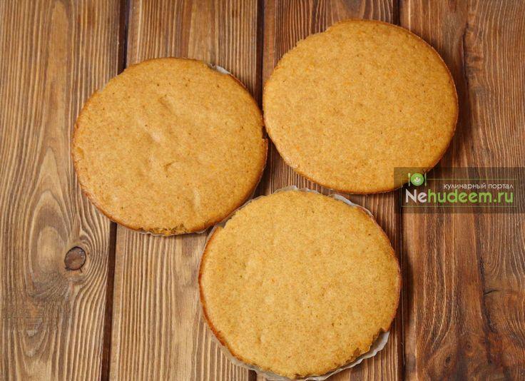 Постные апельсиновые коржи — Кулинарные рецепты с фото