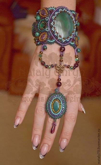 Браслеты ручной работы. Ярмарка Мастеров - ручная работа браслет+кольцо Тайны Востока. Handmade.