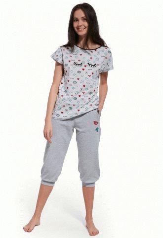 3f60bd2e9adf 199-18 Пижама для девочек подростков 27 Lashes (серый голубой ...