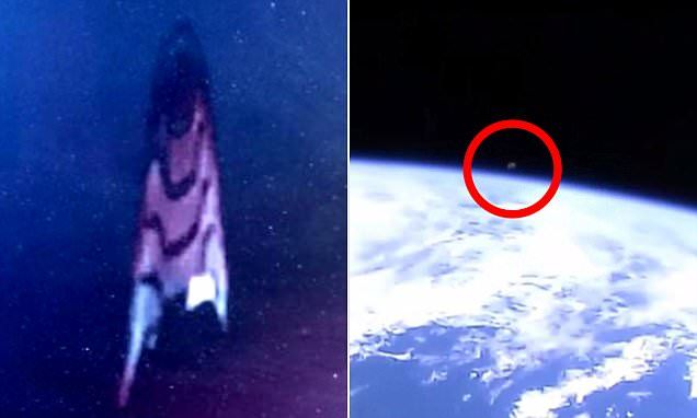 On two separate occasions this month, alien hunters claim to have spotted mysterious objects appearing on their screens before the live feed from Houston-based Nasa disappears