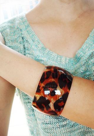 leopard print cuff bangle