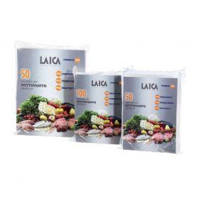 Pungi pentru vidarea alimentelor Laica VT3503 Vidarea mareste de 3-4 ori perioada in care produsele alimentare pot fi pastrate. Rolele sunt fabricate doar din materiale non-toxice certificate. Pachetul include etichete autocolante pe care se pot nota data si tipul alimentelor. Dimensiunea unei pungi: 20 x 28 cm.