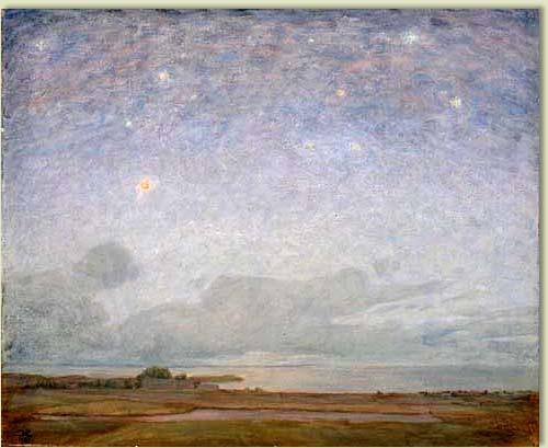 Aftonhimmel över Vättern