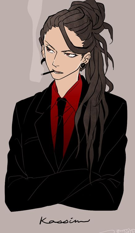 Anime Characters Smoking : Zerochan magi the labyrinth of magic kassim afros