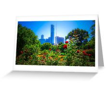 Red Roses in the Botanical Gardens - Melbourne, Victoria Greeting Card