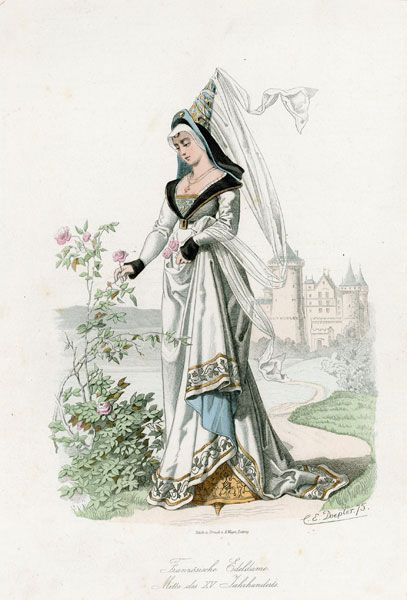 15th Century Clothing   details of picture click to enlarge